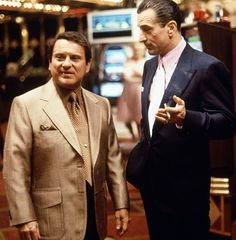 "Joe Pesci y Robert de Niro en ""Casino"", 1995"