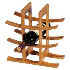 Yumi Bamboo Wine Rack in Natural
