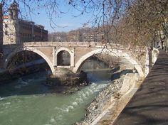 ancient bridge over the Tiber River