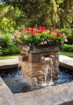 Flowers and water... Garden, ideas. pation, backyard, diy, vegetable, flower, herb, container, pallet, cottage, secret, outdoor, cool, for beginners, indoor, balcony, creative, country, countyard, veggie, cheap, design, lanscape, decking, home, decoration, beautifull, terrace, plants, house. #herbgardenforbeginners #deckdesigner #watergardens #homeandgarden #deckdesigns