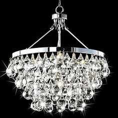 Modern 5 - Light Pendant Lights with Crystal Drops http://ltpi.co.nf/?item=358700