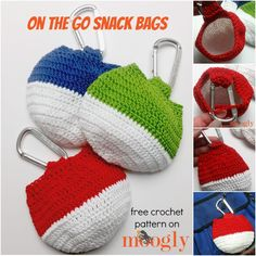 On the Go Snack Bag - free crochet pattern on Mooglyblog.com!