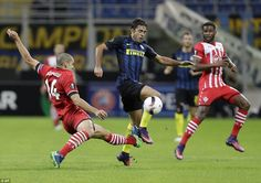 Romeu, who has impressed at St Mary's after joining from Chelsea, flies in with a dangerous-looking challenge on Eder