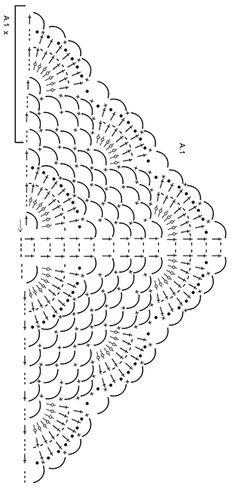 """Summer Fling - DROPS šátek s vějířkovým vzorem a obloučky z řetízkových ok háčkovaný z příze """"Delight"""". - Free pattern by DROPS Design"""