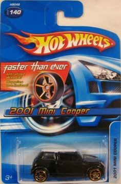 #2005-140 2001 Mini Cooper Faster Than Ever Wheels Collectible Collector Car Mattel Hot Wheels 1:64 Scale by Mattel. $11.99. 1:64. #2005-140 2001 Mini Cooper Faster Than Ever Wheels Collectible Collector Car Mattel Hot Wheels
