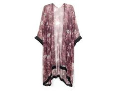 Hand-Made Floral Fringe Kimono Kaftan $48.00 USD
