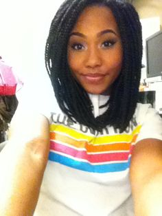 Long bob box braids #bob #box #braids  How I'm doing my hair for the summer 2014