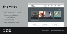 Vires is a responsive retina creative portfolio WordPress Theme featuring a clean, modern and superbly slick design, and very easy to costumize, it is built in both boxed and fullwidth type. Compatible with the latest WordPress version 3.6.1