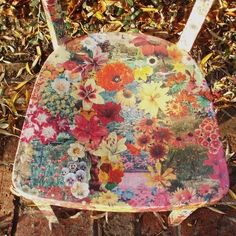 Recycled chair decoupaged with flowers in autumn colours. Finished with layers of hard wearing lacquer. Decoupage Chair, Autumn Colours, Home Crafts, Upcycle, Recycling, Projects To Try, Garden Club, Furniture Ideas, Flowers