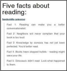 Five Facts About Reading More Than