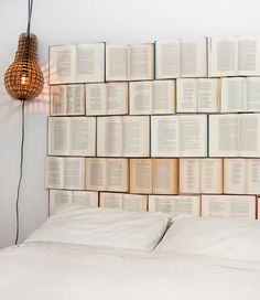 Headboard for book lovers!