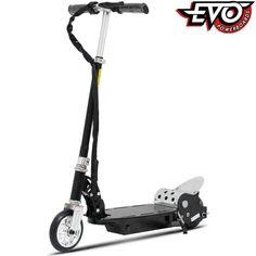 EVO 120 W ELEKTRISK SPARKESYKKEL I SORT Electric Power, Electric Scooter, E Scooter, Summer Kids, Evo, Baby Strollers, Barn, Children, Toys