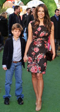 Elizabeth Hurley Steps Out With Son Damian.  #celebrity #parents