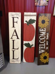 Fall wood signs DIY Project's Fall wood signs, Diy wood signs diy wood crafts for fall - Diy Fall Crafts Fall Wood Signs, Diy Wood Signs, Rustic Signs, Fall Signs, Fall Halloween, Halloween Crafts, Holiday Crafts, Fall Wood Crafts, Pallet Crafts