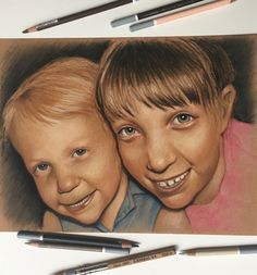 Pastel portrait of my girls when they were young. #pastels #portrait #carbothello #pastelpencils #sennelier