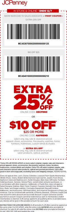 591dd3abe018b Pinned December 5th  Extra 25% off  amp   10 off  25 at  JCPenney