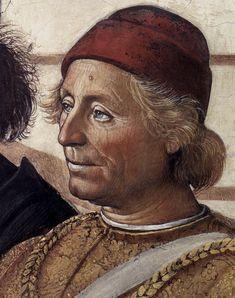 PERUGINO, Pietro  Italian painter, Umbrian school (b. 1450, Citta della Pieve, d. 1523, Perugia)  Christ Handing the Keys to St Peter (detail)  1481-82  Fresco  Cappella Sistina, Vatican