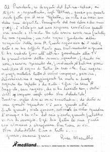 La sorella di Ugo Masullo scrive una lettera: Tifosi e città fantastici