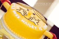 little miss sunshine birthday cake via kara's party ideas