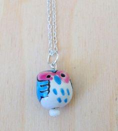 Ceramic Owl Pendant Necklace