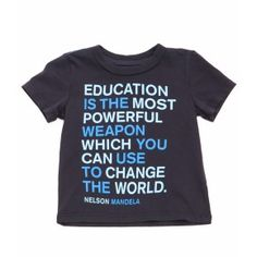 Baby Mandela Quote Tee - Shirts & Tees - Shop - baby boys | Peek Kids Clothing