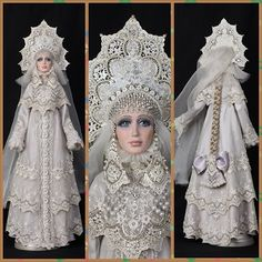 Snegurochka (Snow Maiden) – a doll in the costume of a Russian medieval princess by Marina Turova.