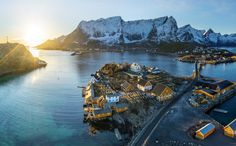 Norwegian fishing village, Stanislav Sedov. New images every day