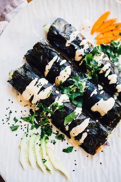 Sunrise Nori Wraps with Spicy Tahini Drizzle (Vegan, Gluten Free)