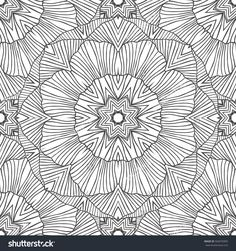 Seamless pattern - linear abstract black and white background