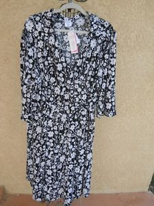 Motherhood Maternity 3X Dress Black White Floral Slinky Polyester New with Tags http://www.ebay.com/usr/prettywoman-2012