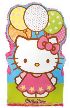 "Hello Kitty Giant Pinata - Includes (1) themed pinata. 36""H x 21""W. This is an officially licensed Hello Kitty product."
