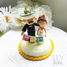 Custom Wedding Cake Topper Mexican Fiesta Theme by 100original, $120.00