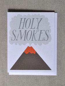 """""""Holy Smokes"""" Volcano Note Card-EMMA's TAGLINE!"""