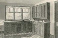 Historic_Kitchen_unpainted_01 ~ 1912 Bungalow ~ Ever wonder what your historic bungalow kitchen used to look like? Some examples from the early 1910s to the late 1920s.