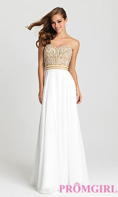 Long Strapless Sweetheart Madison James Prom Dress at PromGirl.com
