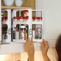 """Multi-Function Storage Rack """"☘☘Kitchen messy, take up the space, too many bottles and cans lead to a lot of items can not be placed! You need a proper receive storage rack to collect them. Kitchen Organization, Organization Hacks, Kitchen Storage, Storage Spaces, Organizing, Diy Organizer, Home Gadgets, Kitchen Gadgets, Kitchen Hacks"""
