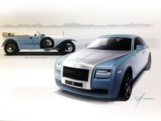 gashetka:  Rolls-Royce Official Sketches | Source 1913 | Rolls-Royce Silver Ghost 2013 | Rolls-Royce Ghost Alpine