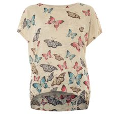 TK Maxx Cream Textured Butterfly Top