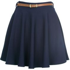 Navy High Waisted Skater Skirt (49 BRL) ❤ liked on Polyvore featuring skirts, bottoms, saias, faldas, pencil skirt, floral skater skirt, blue pencil skirt, high-waisted flared skirts and navy blue skirt