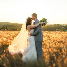 A stunning elegant rustic purple wedding