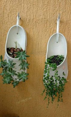 A simple idea to have plants and a small garden ! A simple idea to have plants and a small garden ! Balcony Garden, Garden Planters, Succulents Garden, Succulent Pots, Tire Garden, Garden Paving, Plant Pots, Garden Crafts, Garden Projects