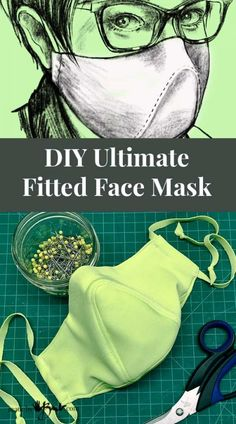 DIY Ultimate Fitted Face Mask - Made By Barb - unique designer pattern Easy Face Masks, Diy Face Mask, Sewing Patterns Free, Free Pattern, Pocket Pattern, Clothes Patterns, Free Sewing, Dress Patterns, Drops Kid Silk