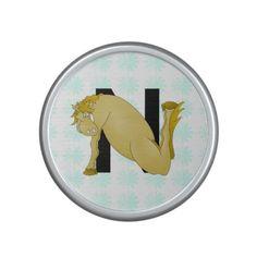 Monogram N Funny Pony Personalised Bluetooth Speaker