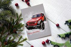Jeep Wrangler Christmas card JL  Find me on etsy or my website Jeep Wrangler, Jeep Gifts, Christmas Cards, Merry Christmas, Car Card, Cards For Boyfriend, Garage Art, Kids Room Wall Art, Automotive Art