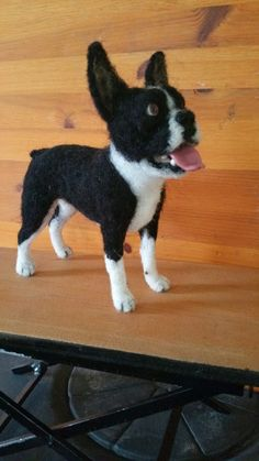 Needle felted Boston by #ChicktinCreations