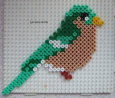 Bird hama beads by Les Loisirs de Pat