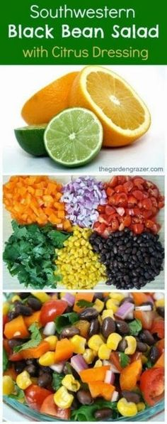 Southwestern Black Bean Salad with Citrus Dressing