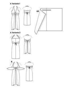 Burda Bangle Dress 07/2013 #125A:  Draft-it-yourself dress sewing pattern available for download. Available in various sizes. This sexy self-drafted style comes together with a metal bangle. Dress can be worn in multiple ways for different beach-ready looks.