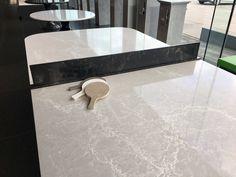 Ping-Pong table @caesarstoneus made in 5110 Alpine Mist & 5100 Vanilla Noir. #pieceunique #art #tabletennis #caesarstone #quartzcomposite