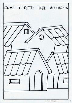 disegni, idee e lavoretti per la scuola dell'infanzia... e non solo Pebbles And Bam Bam, Bambam, Coloring Pages, Applique, Cartoon, Buildings, Houses, School, Alphabet
